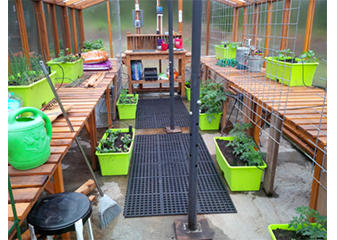 Our redwood benches are perfect for protecting your plants and crops from the cold.